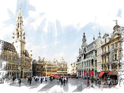 Photograph - Brussels Grote Markt  by Tom Cameron