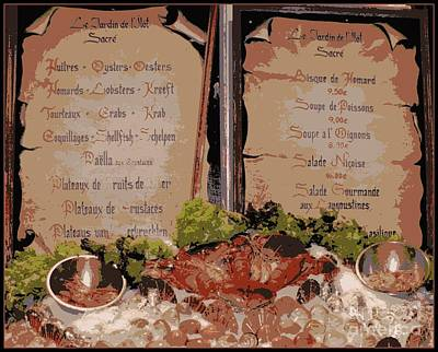 Bruxelles Photograph - Brussels Menu - Digital by Carol Groenen
