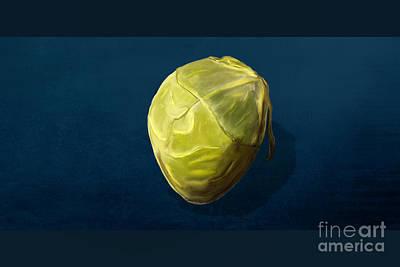 Digital Art - Brussels Sprout by Jan Brons