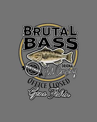 Digital Art - Brutal Bass by Peggy Novak