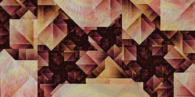 Brutalist Digital Art - Brutalist Semaphores by Richard Kelly