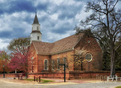 Photograph - Bruton Parish Church by Lois Bryan