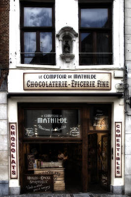 Epicerie Photograph - Bruxelles Chocolaterie by Georgia Fowler
