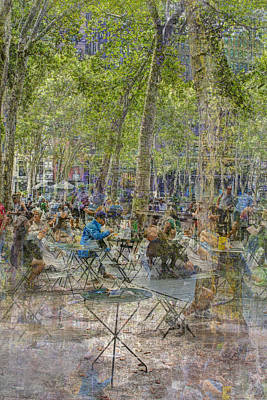 Photograph - Bryant Park Collage 2 by Dave Beckerman