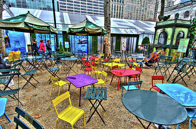 Bryant Park In Vivid Color Art Print by Laura Bode