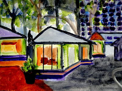 Bryant Park Painting - Bryant Park Nyc - Abstract by Albert Bercume