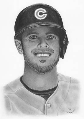 3rd Base Drawing - Kris Bryant by Tim Trojan