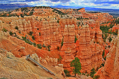 Watercolor Typographic Countries - Bryce Canyon 11 - Fairyland Canyon by Allen Beatty