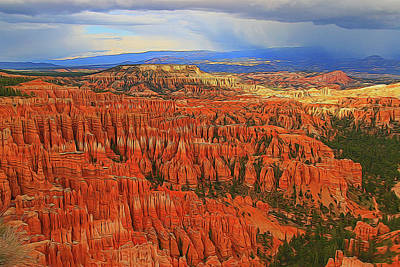 Photograph - Bryce Canyon 14 - Inspiration Point by Allen Beatty