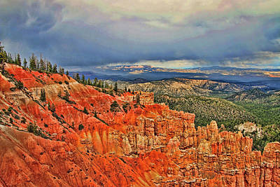 Photograph - Bryce Canyon 15 - Ponderosa Point by Allen Beatty