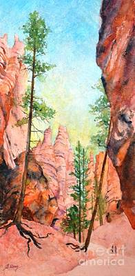 Painting - Bryce Canyon #2 by Betty M M Wong