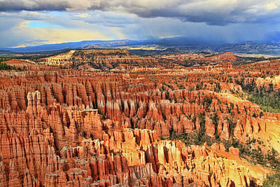 Photograph - Bryce Canyon 23 - Inspiration Point by Allen Beatty