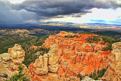 Photograph - Bryce Canyon 33 - Rainbow Point by Allen Beatty
