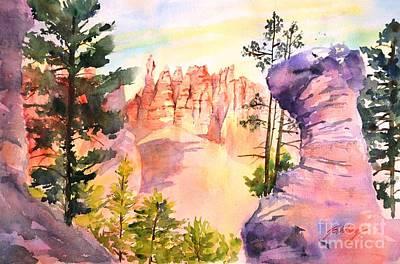 Painting - Bryce Canyon #4 by Betty M M Wong