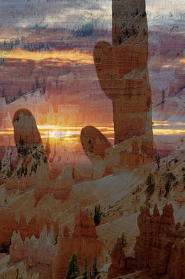 Photograph - Bryce Canyon And Saguaro Double Exposure by Kyle Hanson