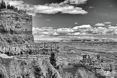 Photograph - Bryce Canyon In Black And White by Nancy Landry