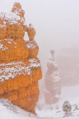 Bryce Canyon In The Snow Art Print by Christian Heeb