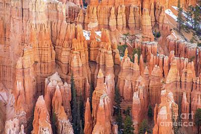 Katharine Hepburn - Bryce Canyon Limestone Details by Mike Reid