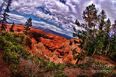 Photograph - Bryce Canyon National Park Awesome Clouds by Blake Richards