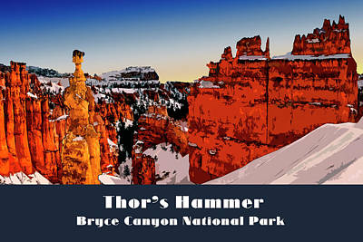 Digital Art - Bryce Canyon National Park by Chuck Mountain