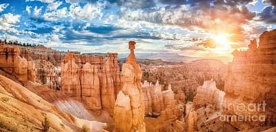 Photograph - Bryce Canyon Sunrise Panorama by JR Photography