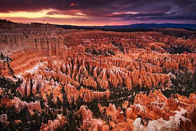 Bryce Canyon Sunset Art Print by Nolan Nitschke