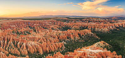 Bryce Canyon Sunset Panorama Art Print by Johnny Adolphson