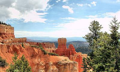 Widescreen Photograph - Bryce Canyon  Utah Western Vista Scene Picture Decor  by John Samsen