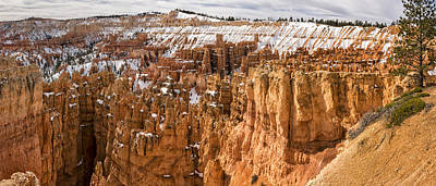 Photograph - Bryce Canyon Winter Panorama - Bryce Canyon National Park - Utah by Brian Harig