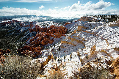Photograph - Bryce Canyon With Snow by Mike Shaw