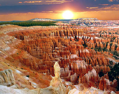 Photograph - Bryce Canyon's Inspiration Point by Mitchell R Grosky
