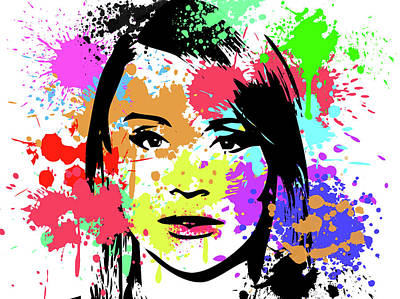 Digital Art - Bryce Dallas Howard Pop Art by Ricky Barnard