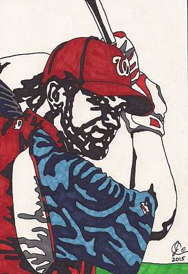 Bryce Harper Drawing - Bryce Harper 1 by Jeremiah Colley