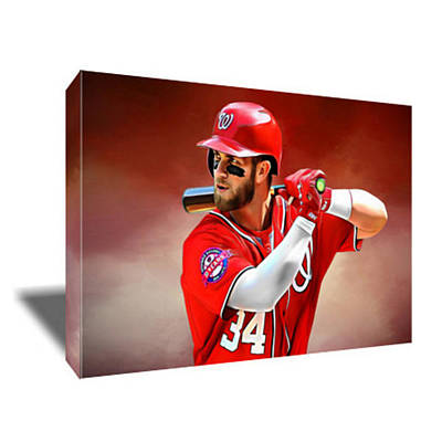Bryce Harper Painting - Bryce Harper Canvas Art by Artwrench Dotcom