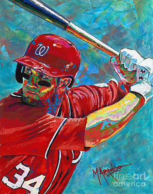 Painting - Bryce Harper by Maria Arango