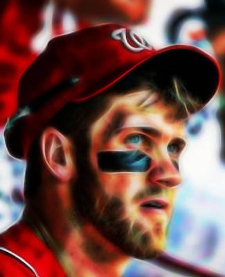 Bryce Harper Painting - Bryce Harper by Paul Van Scott