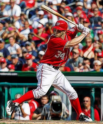 Mixed Media - Bryce Harper Washington Nationals by Marvin Blaine