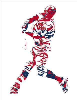 Bryce Harper Mixed Media - Bryce Harper Washington Nationals Pixel Art 11 by Joe Hamilton