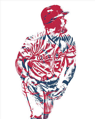 Mixed Media - Bryce Harper Washington Nationals Pixel Art 40 by Joe Hamilton