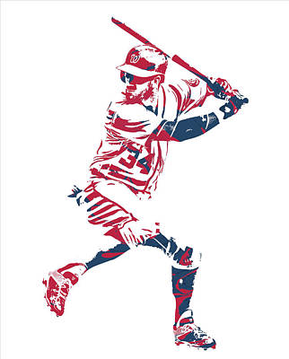 Mixed Media - Bryce Harper Washington Nationals Pixel Art 41 by Joe Hamilton