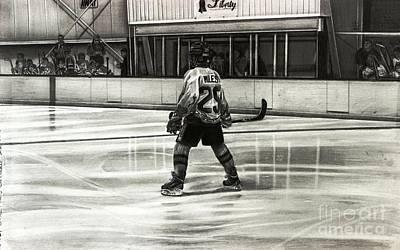 Nhl Ice Hockey Drawing - Bryce Miles #29   by Gary Reising