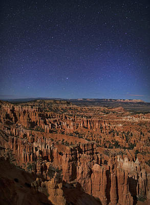 Photograph - Bryce Revealed At Night by Art Cole