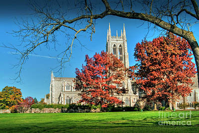 Photograph - Bryn Athyn Cathedral Episcopal Church by David Zanzinger
