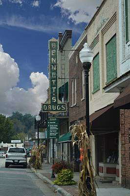 Photograph - Bryson City - Bennett's Drugs Sign by rd Erickson