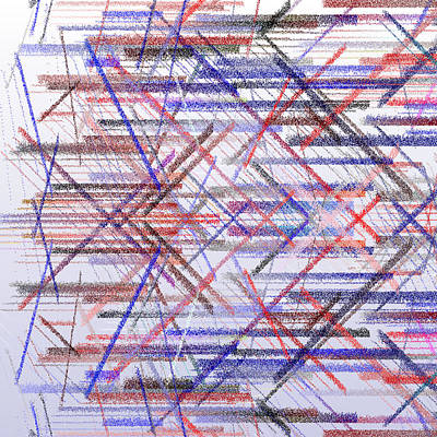 White Background Digital Art - Bs.1.20 by Gareth Lewis