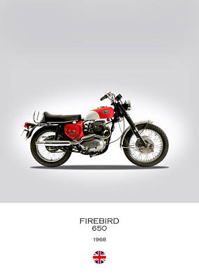 Bsa Firebird 650 Art Print by Mark Rogan