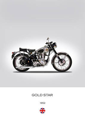 Gold Star Photograph - Bsa Gold Star 1952 by Mark Rogan