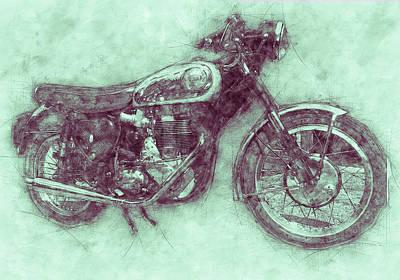 Mixed Media Royalty Free Images - BSA Gold Star 3 - 1938 - Motorcycle Poster - Automotive Art Royalty-Free Image by Studio Grafiikka