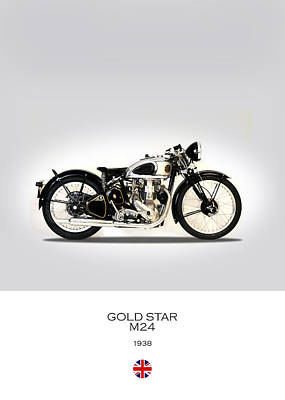 Gold Star Photograph - Bsa Gold Star by Mark Rogan