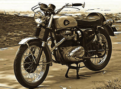 Photograph - B S A Motorbike by DigiArt Diaries by Vicky B Fuller